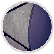 Shape No.3 Purple Version Round Beach Towel