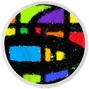 Shapes 18 Round Beach Towel