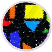Shapes 8 Round Beach Towel