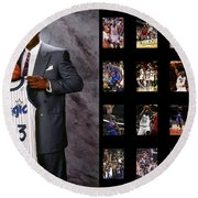 Shaquille O'neal Round Beach Towel
