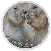 Sharing Is Caring Round Beach Towel