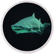 Shark-09441 Round Beach Towel
