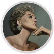 Sharon Stone Round Beach Towel