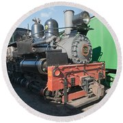 Shay Engine 12 In The Colorado Railroad Museum Round Beach Towel