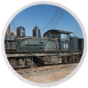 Shay Engine 14 In The Colorado Railroad Museum Round Beach Towel