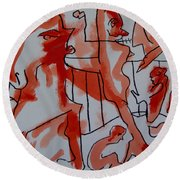She Was Fed To Death  By Animals 2009 Round Beach Towel
