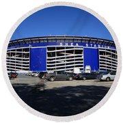 Shea Stadium - New York Mets Round Beach Towel by Frank Romeo