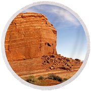 Shear Lined Cliff Round Beach Towel