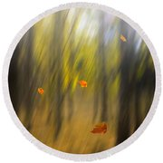 Shed Leaves Round Beach Towel