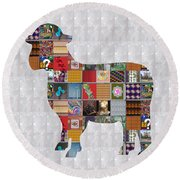 Sheep Animal Showcasing Navinjoshi Gallery Art Icons Buy Faa Products Or Download For Self Printing  Round Beach Towel