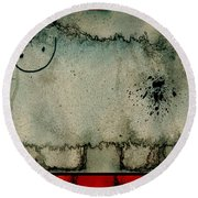 Sheep Or Not So - Bb06 Round Beach Towel