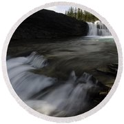 Sheep River Falls Alberta Canada 1 Round Beach Towel
