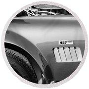 Shelby Cobra 427 Engine Round Beach Towel