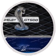 Shelby Gt 500 Round Beach Towel