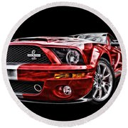 Shelby On Fire Round Beach Towel