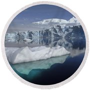 Sheldon Glacier Round Beach Towel