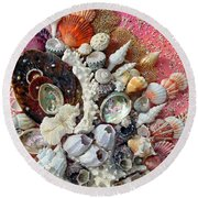 Shell Creation  13 Round Beach Towel