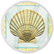 Shell Finds-a Round Beach Towel