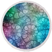Shell Fossils Round Beach Towel