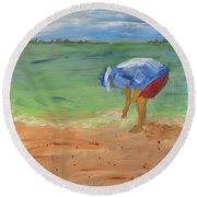 Shell Game Round Beach Towel