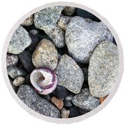 Shell On The Shore 1 Round Beach Towel