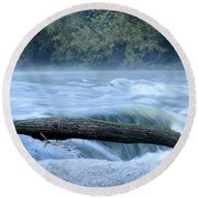 Shell Rock Rapids Two Round Beach Towel