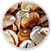 Shells Galore Round Beach Towel