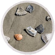 Shells Round Beach Towel