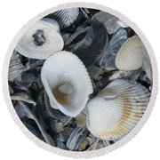 Shells In Shells 2 Round Beach Towel