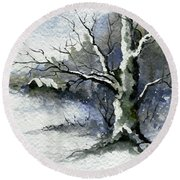 Shelly's Tree Round Beach Towel