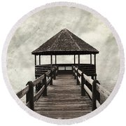 Shelter From The Storm Round Beach Towel