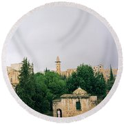 Historic Jerusalem Round Beach Towel
