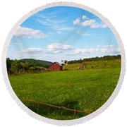 Shenandoah Farm Round Beach Towel