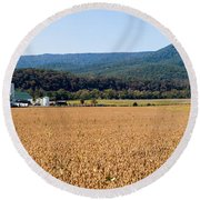 Shenandoah Valley Panorama Round Beach Towel