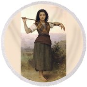 Shepherdess Round Beach Towel