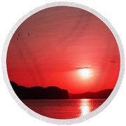 Shepherd's Delight Sunset Round Beach Towel