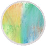 Sherbet Abstract Round Beach Towel