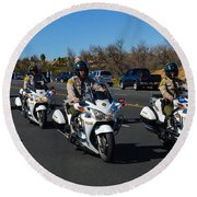 Sheriff's Motor Officers Round Beach Towel