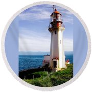 Sheringham  Lighthouse Round Beach Towel