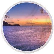 Sherri's Sunset St. Lucia Round Beach Towel