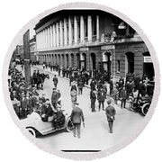 Shibe Park 1914 Round Beach Towel by Bill Cannon