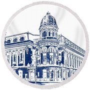 Shibe Park 2 Round Beach Towel by John Madison