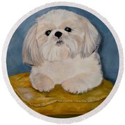 Shihtzu Round Beach Towel