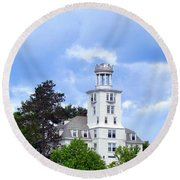 Shiloh Chapel Durham Maine Round Beach Towel
