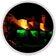 Shimla At Night Round Beach Towel