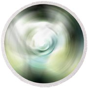 Shimmer - Energy Art By Sharon Cummings Round Beach Towel