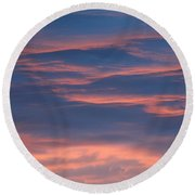 Shimmering Clouds Round Beach Towel