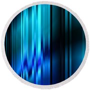 Shimmering Curtain Round Beach Towel