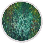 Shimmering Reflections Round Beach Towel