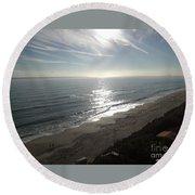 Shimmering Sunrise Round Beach Towel